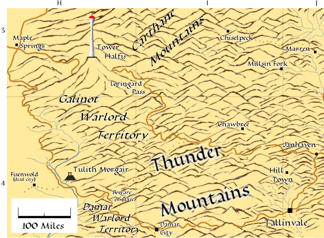 Thunder Mountains map thumbnail